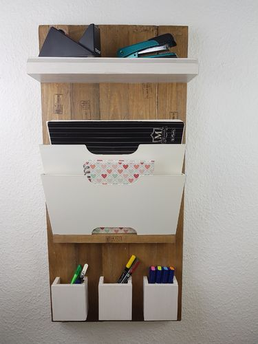 Upcycling Organizer Wandregal