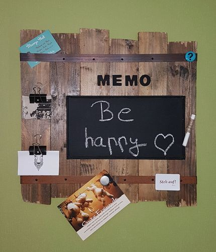 Memoboard im Industrie-Style